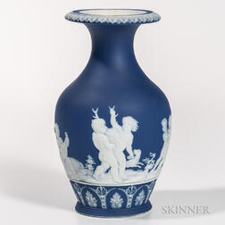 Wedgwood Dark Blue Jasper Vase