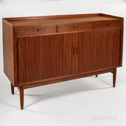 Arne Vodder Teak Sideboard with Tambour Doors