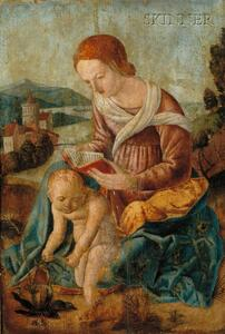 Northern School, 16th Century Style      Madonna and Child in a Landscape