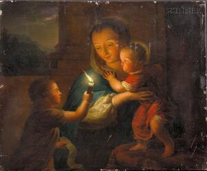 Attributed to Godfried Schalcken (Dutch, 1643-1706)      Madonna and Child