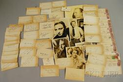 Collection of Movie and Entertainer Autographs