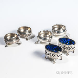 Six Georgian Sterling Silver Salt Cellars