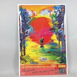 Peter Max (American, b. 1937)      The Better World Series/2000   Poster