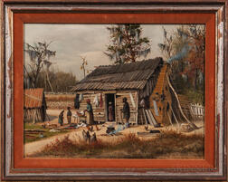 William Aiken Walker (South Carolina/Maryland, 1838-1921)      Figures and Cottage