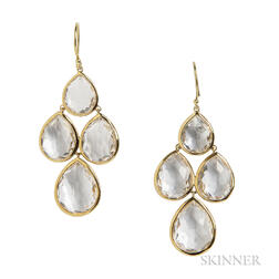 18kt Gold and Rock Crystal Earrings, Ippolita