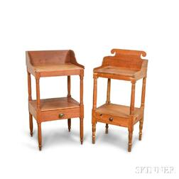Two Federal Pine and Cherry Washstands