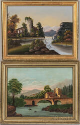Two American School Oil on Canvas Landscapes
