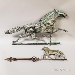 Two Running Horse Weathervanes