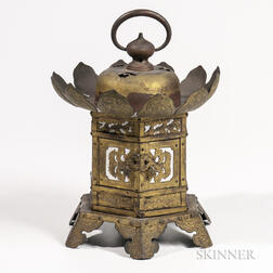 Brass Hanging Temple Lantern