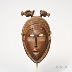 Baule Carved Wood Mask