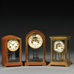 Three Waterbury Mantel Clocks