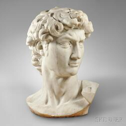 Carved Marble Head of David