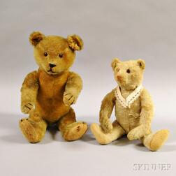 Two Articulated Mohair Teddy Bears