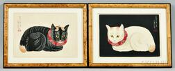 Two Paintings Depicting a Cat