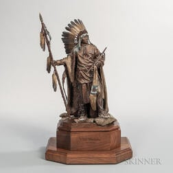 Limited Edition Cast Bronze Sculpture of Chief Washakie