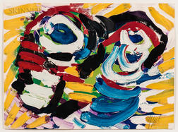 Karel Appel (Dutch, 1921-2006)      Faces Together