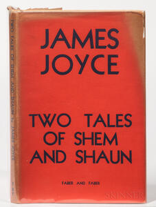 Joyce, James (1882-1941)Two Tales of Shem and Shaun, Fragments from Work in Progress.
