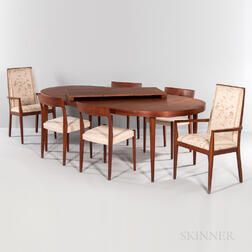 Svegards Markaryd Teak Dining Table and Six Chairs
