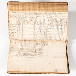 Manuscript Book of Returns from the 8th Massachusetts Regiment of Foot Commanded by Colonel Michael Jackson Kept by Adjutant Francis Tu