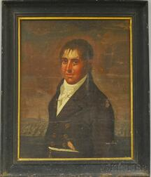 Attributed to Carolus Delin (Netherlandish, 1756-1818)      Portrait of a Sea Captain, Possibly of Salem, Massachusetts.