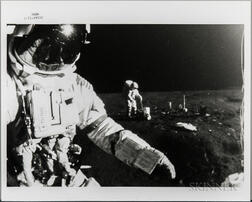 Apollo 14, EVA, Two Photographs Taken by an Automatic Camera.