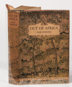 Dinesen, Isak (1885-1962) Out of Africa  , First Edition in Dust Jacket.