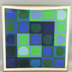 Victor Vasarely (Hungarian/French, 1906-1997)    Zaphir