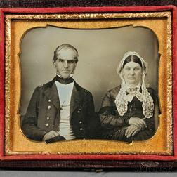 "Sixth-plate Daguerreotype Portrait of ""Gen. & Mrs. Stone,"""