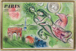 Charles Sorlier (French, 1921-1990) After Marc Chagall (Russian/French, 1887-1985)      Two Framed Posters: le plafond de Chagall