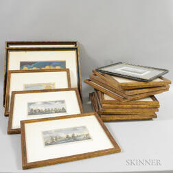 Fifteen Framed Nautical Prints