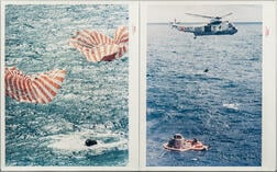 Apollo 14, Recovery, Two Color Photographs, February 9, 1971.