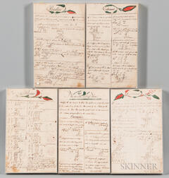 Five Framed Mathematical Exercise Pages