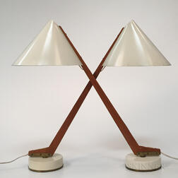 Pair of Hans Agne Jakobsson for Markaryd Model B54 Table Lamps