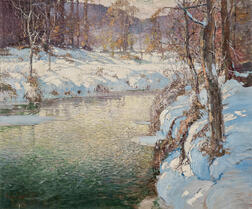 George Ames Aldrich (American, 1872-1941)      River in Winter