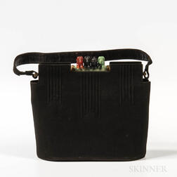 Scherick Black Suede Handbag