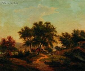 American School, 19th/20th Century    Lot of Two Landscapes