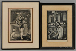 Two Framed Georges Rouault (French, 1871-1958) Engravings