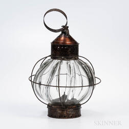 Large Tin and Glass Lantern
