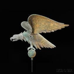 Large Molded Copper and Cast Zinc Spreadwing Eagle Weathervane