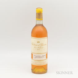 Chateau dYquem 1975, 1 bottle