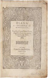 Montemayor, Jorge de (1520?-1561) Diana of George of Montemayor: Translated out of Spanish into English by Bartholomew Yong of the Midd