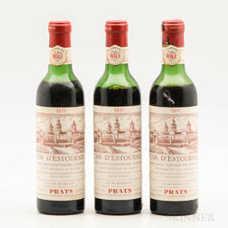 Chateau Cos dEstournel 1971, 3 demi bottles