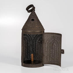 Large Pierced Tin Lantern