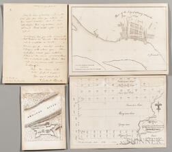 Clinton, DeWitt (1769-1828) Autograph Letter Signed, 17 April 1821, and Three Accompanying Prints.