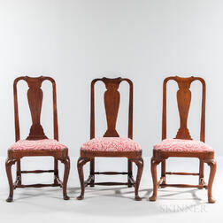Assembled Set of Three Queen Anne Chairs