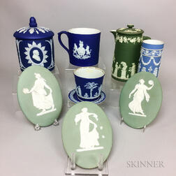 Nine Wedgwood Jasper Items