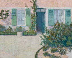 Philip Leslie Hale (American 1865-1936)      Maison Rose, Giverny