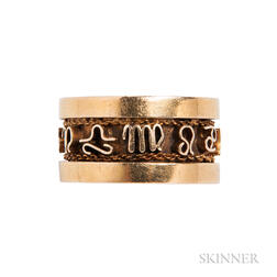 14kt Gold Zodiac Band Ring