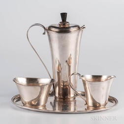 Four-piece Modern Sterling Silver Coffee Service