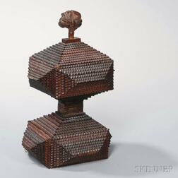 Tramp Art-style Box with Figural Head